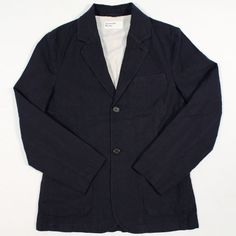 Universal Works Two Button Jacket Panama Lincott Navy Edwin Jeans, Universal Works, Red Wing Shoes, Japanese Denim, Workout Accessories, Vintage Inspired Dresses, Jacket Buttons, Summer Collection, Dress Making
