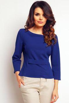 Blue Elegant Short Blouse