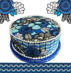 Vera Bradley Cake Blue Bayou