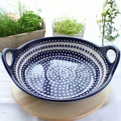 Serving Bowl. Baking Dish. Polish pottery is world renowned for its distinctive cobalt blue design and high durability, making it a must have for your kitchen. Every product is unique, being individually handcrafted to reflect a combination of the strength and beauty so characteristic of Polish folk art. Create your very own collection by choosing from the extensive variety of styles and colours available