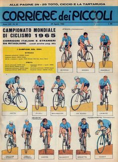 Corrierino and Giornalino: toy soldiers Bicycle Race, Bike, Vintage Cycles, Sports Stars, Toy Soldiers, Vintage Posters, Cycling, Jumping Jacks, Baseball Cards