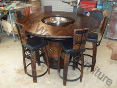 Choices in Outdoor Patio Furniture Sets – Outdoor Patio Decor Wood Patio Furniture, Wine Barrel Furniture, Steel Furniture, Furniture Design, Furniture Removal, Wine Barrel Table, Wine Barrels, Wine Cellar, Outdoor Patio Designs