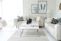 Så kom drømme sofaen hjem.....Den svarte sofa har blitt solgt og byttet ut, med en nyere modell. :) Den gamle har jeg vært veldig fornøyd med, men når en jobber i møbelbransjen så blir det selvsag