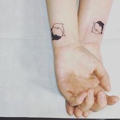 ideas tattoo minimalistas pareja for 2019 Tattoos Infinity, Bff Tattoos, Disney Tattoos, Mini Tattoos, Trendy Tattoos, Tattoos For Guys, Tattos, Small Rib Tattoos, Small Tattoo Placement