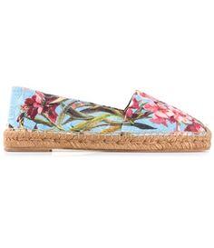 shoes dolce and gabbana espadrilles canvas flowers Designer Espadrilles 5c4d1e293ac