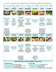 ScheduleOur free bi-weekly whole food meal plans open into a convenient pdf that includes photos and links to each of the gluten-free recipes featured making it easy to access them with just a simple click.