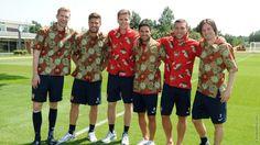 the gunners wearing batik :)