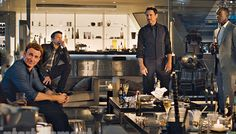 "Steve, Clint, Tony and Rhodey - ""Avengers: Age of Ultron"" (from Entertainment Weekly)"