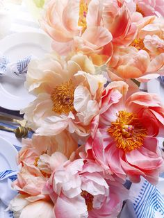 - DomestikatedLife A peony season party featuring a tablescape inspired by the peak of spring Peony season Rare Flowers, Exotic Flowers, Beautiful Flowers, Purple Flowers, Peony Flower, Cactus Flower, Peonies Season, Hybrid Tea Roses, Climbing Roses