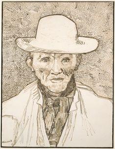 Peasant of the Camargue- Vincent van Gogh, Dutch (Groot Zundert (Zundert), The Netherlands 1853 - 1890 Auvers-sur-Oise, France) Vincent Van Gogh, Van Gogh Drawings, Van Gogh Paintings, Ink Drawings, Artist Van Gogh, Van Gogh Art, Theo Van Gogh, Art Van, Van Gogh Zeichnungen