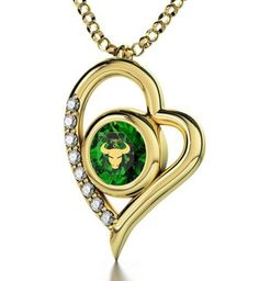 Gold Plated Zodiac Heart Pendant Taurus Necklace Inscribed in 24k Gold on Swarovski Crystal,   f you know someone who loves astrology, then why not consider getting them the perfect astrological gifts.  Unique gifts for astrology lovers are trendy right now because it is more of a personalized gift.  You can buy a gift based on zodiac sign and personality.  Here you will find great gift ideas for Pisces, Capricorn, Aries, Scorpio, Taurus, Virgo, Libra, Gemini, Sagittarius, cancer and Leo