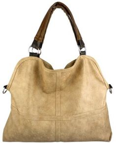 Everyday Free Style Beige Tan Soft Embossed Ostrich Double Handle Oversized Hobo Satchel Purse Handbag Tote Bag $29.50