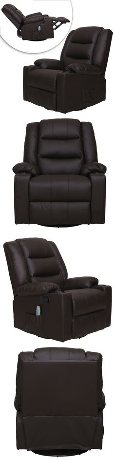 Electric Massage Chairs: Electric Full Body Shiatsu Massage Chair Recliner W/ Heat Stretched Foot Brown BUY IT NOW ONLY: $345.99