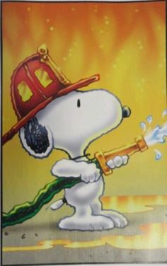 Snoopy Fireman/Firefighter Peanuts Blank Card by KatKreated on Etsy Firefighter Paramedic, Volunteer Firefighter, Firefighter Gifts, Peanuts Cartoon, Peanuts Snoopy, Charlie Brown Y Snoopy, Snoopy Quotes, Joe Cool, Dog Quotes Funny