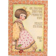 Amazon.com: Mary Engelbreit I'm Fine 1997 Greeting Card 5x7 with Envelope: Health & Personal Care
