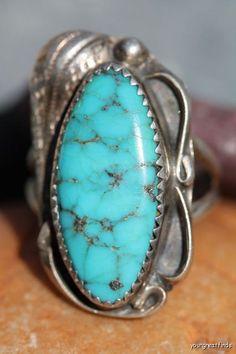 Vintage Signed Navajo Sterling Silver