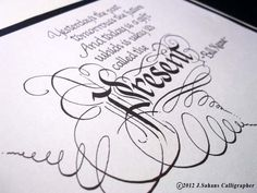 Inspirational Quotations Calligraphy by Jagdeep Sahans, via Behance Creative Artwork, Soft Furnishings, Inspirational Quotations, Calligraphy, Scribe, Ireland, Irish, Cards, How To Make