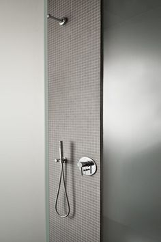 Thomas Bendel Unifies Two Buildings Into a Single Apartment. Wet Room Shower, Take A Shower, Shower Floor, Single Apartment, Scandinavian Bathroom, Bath And Beyond, Interior Decorating, Interior Design, Bathroom Toilets