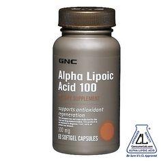 GNC Alpha Lipoic Acid 100mg (60 Caps)