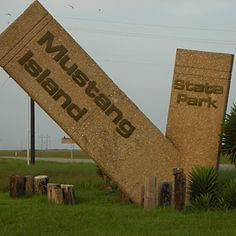 mustang island state park, tx - yes this is texas no there are no horses. nice beach with picnic tables and a shower, clean though sometimes crowded.