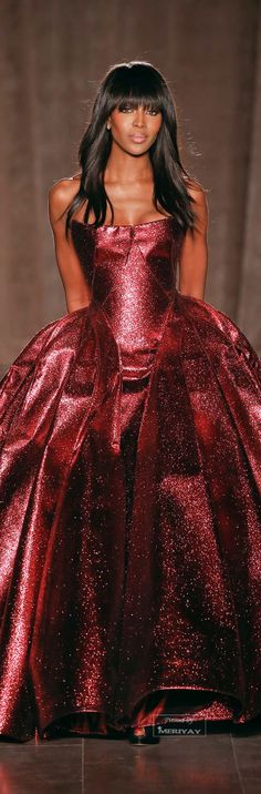 Zac Posen Fall-winter 2015-2016. | Love that Naomi Campbell was brought in on the Empire cast |