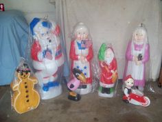 Union Molds Decorating With Christmas Lights, Christmas Ideas, Christmas Decorations, Xmas, Christmas Figurines, Blow Molding, Lighthouse, Santa, Vintage Ornaments