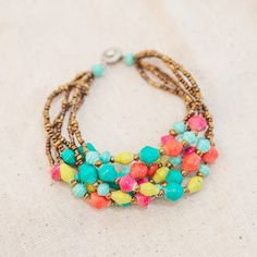 pretty, summery bracelet