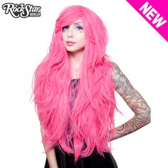 "RockStar Wigs® <br> Hologram 32"" - Atomic Hot Pink 00620"