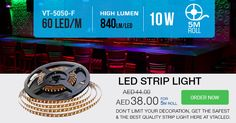 To create an ideal atmosphere in your surrounding and for perfect illumination scheme, select #VTAC #LED #Striplights which will provide your area a charming , attention-grabbing effect and is more Environmental friendly.