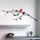 Wall Decals Birdie on a Branch Stickers