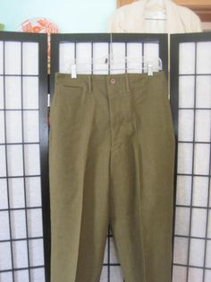 Vintage 1940s Wool Army Pants WWII Military Uniform by girlgal6, $55.00