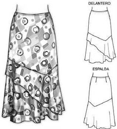 Discussion on LiveInternet - Russian Service of Online Diaries Dress Sewing Patterns, Vintage Sewing Patterns, Clothing Patterns, Diy Clothing, Sewing Clothes, Pola Rok, Types Of Skirts, Scarf Dress, Pattern Cutting