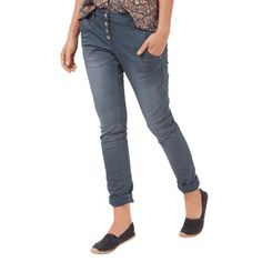 | #Tom #Tailor #Damen #Relaxed #Tapered #Fit #Jeans mit #Knopfleiste