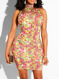 Dresses – Page 6 – Erchic Maxi Romper, Peplum Dress, Bodycon Dress, Sleeveless Turtleneck, Sequin Party Dress, Font Styles, Chic Dress, Dream Dress, Fashion Prints