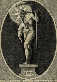 "Jan Collaert II after Jan van der Straet. ""Saturn"", The Seven Planets. 1587."