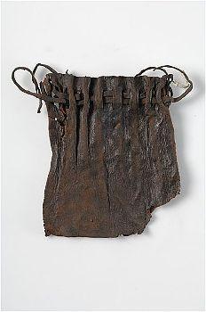 Leather purse, Stockholm, Sweden.  Medieval