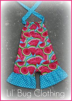 Watermelon Custom Boutique Clothing Girl 1 by LilBugsClothing, $29.99