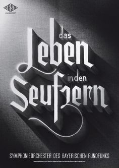 Poster (7 of 13) from a campaign for the Bavarian Radio Symphony Orchestra by Mirko Borsche.