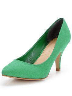 £12 Shoe Box Lorraine Almond Toe Mid Heel Court Shoes | very.co.uk