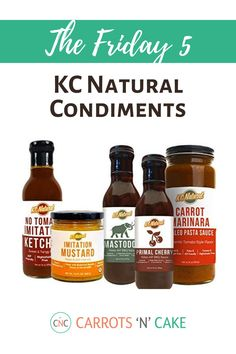 We love these condiments! They're all made with wholesome ingredients – no fillers, additives, fake sugars, etc. The BBQ sauces are fantastic. So if you're doing an elimination diet, have food sensitivities, or are just trying to clean up your diet, I highly recommend. You can find them on Amazon!