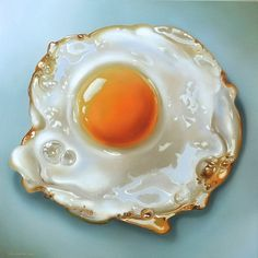 Dutch photo-realistic painter Tjalf Sparnaay is another artist who focused on the painting of daily still life. Influenced by the Dutch masters Vermeer and Rembrandt, Tjalf created delicious portraits of food that are so detailed.