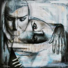 Wall art by Neil Edward & hadley Newman http://www.widewalls.ch/artist/best-ever/ #streetart www.waavedada.com