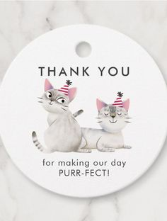 Twins Joint Kitty Cat Birthday Party Thank You Favor Tags by NamiBear ad Sibling Birthday Parties, Joint Birthday Parties, Birthday Party Themes, Birthday Ideas, Kitten Party, Cat Party, Birthday Cake For Cat, Birthday Bunting, Dinosaur Birthday