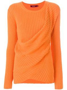 465d71d376703a Sies Marjan Draped Rib Knit Sweater - Pumpkin S