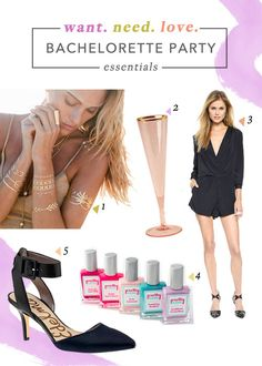 Shop these cute clothes and accessories for your bachelorette party! | Brides.com