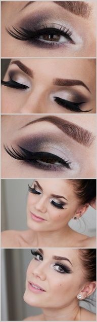 You Found Me -Linda Hallberg (smoky eye reminiscent of Naked pallette) more subtle lashes... very pretty!