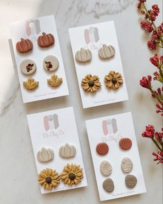 Diy Earrings Polymer Clay, Polymer Clay Ornaments, Cute Polymer Clay, Polymer Clay Flowers, Polymer Clay Projects, Polymer Clay Charms, Handmade Polymer Clay, Clay Crafts, Clay Keychain