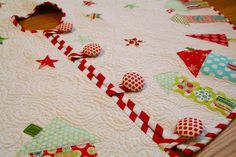 Love the covered buttons!! TGIFF- The One Where I Actually Finish the Tree Skirt. | better ...
