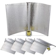 GHP Set of 5 HPS MH Grow Tent Light Adjustable Upgraded Reflector Hoods * You can find more details by visiting the image link.(This is an Amazon affiliate link and I receive a commission for the sales)