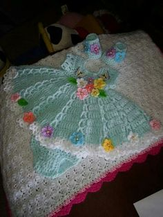 Gorgeous baby dress inspiration  Have to find a similar pattern, and love the colors.